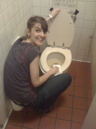 nicole cleaning toilets.jpg