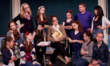 "The cast of ""The Trojan Horse"" and Ms. Dodd (Kathryn Markey)"