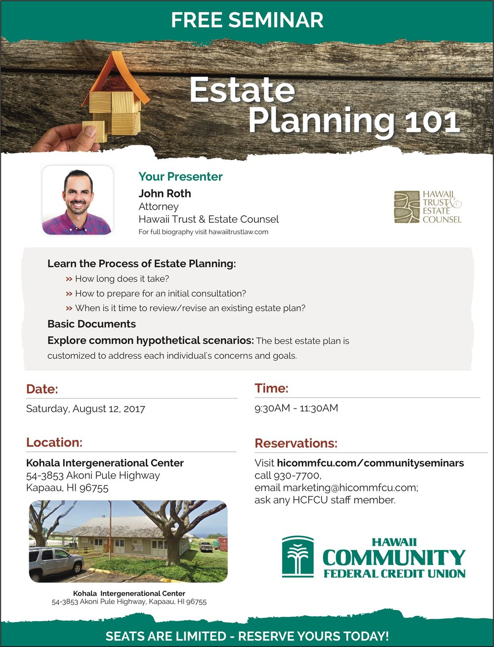 John Roth Attorney Presentation Free Estate Planning