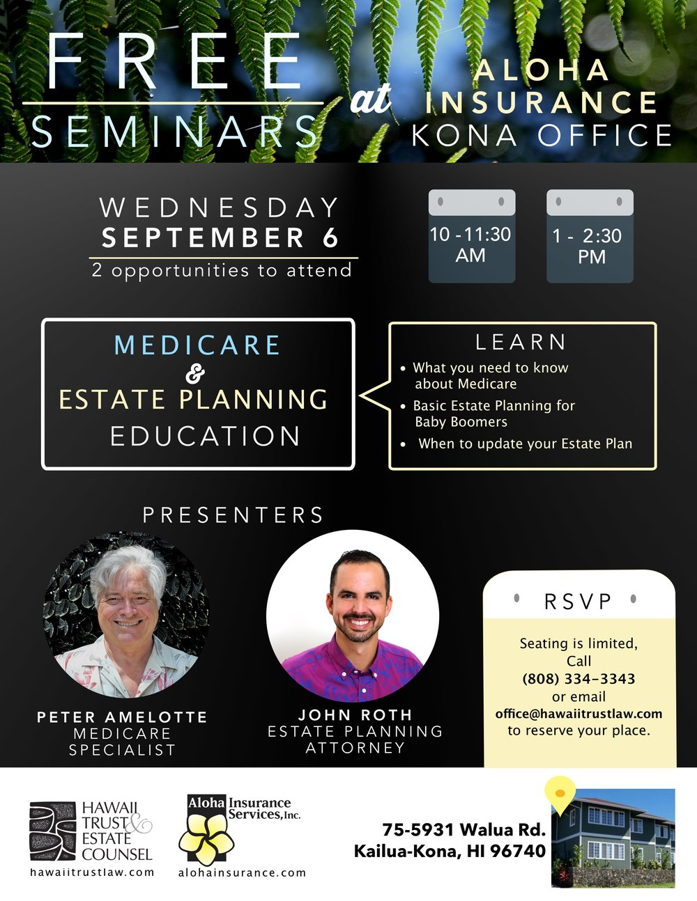 Medicare Estate Planning Seminar Kona