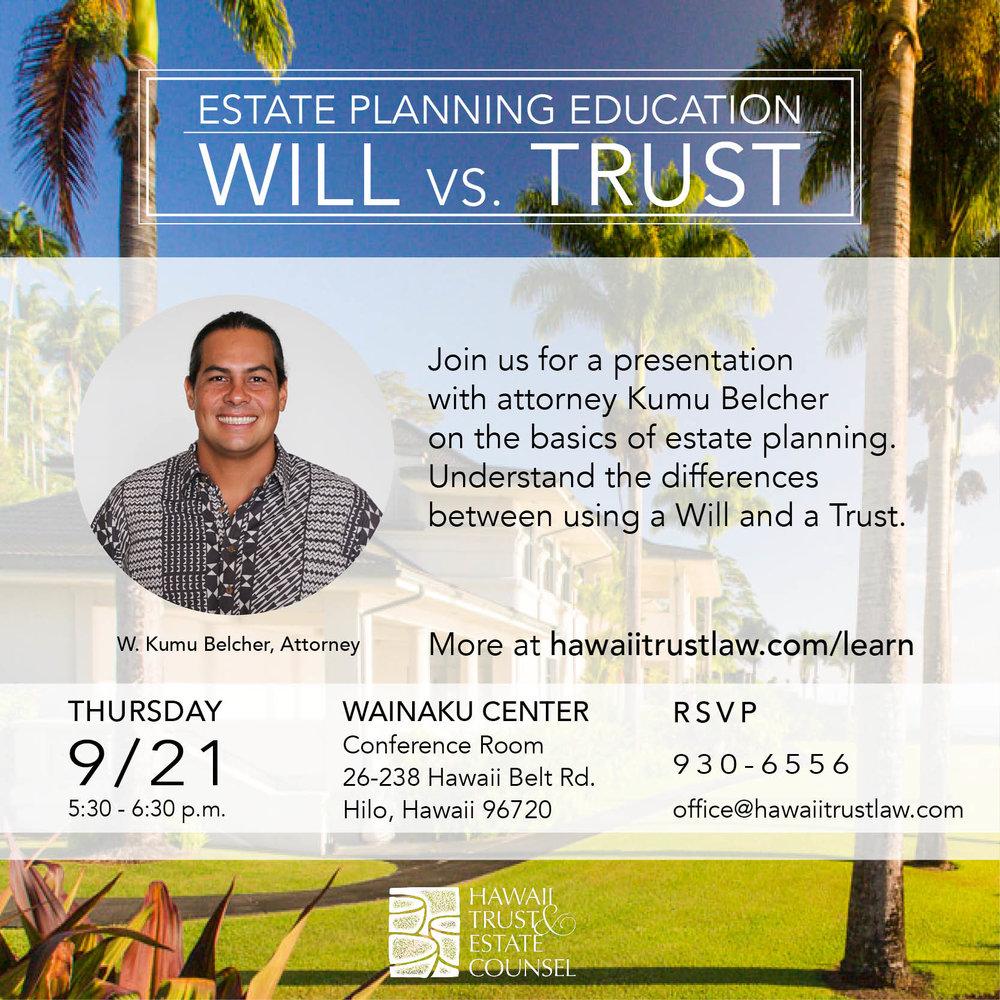 Estate Planning Hilo