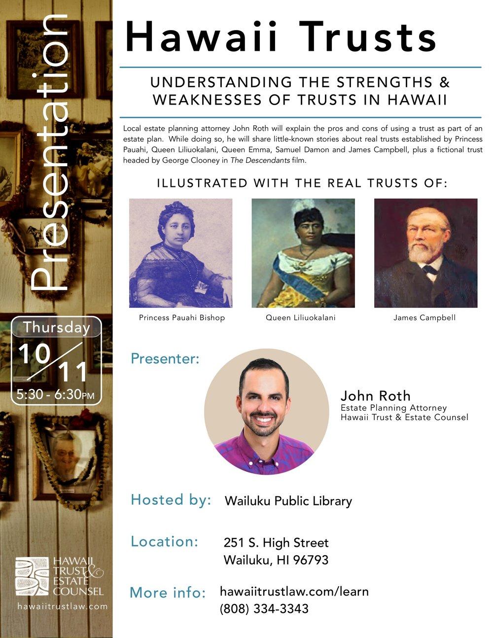 Hawaii Trusts Presentation__Wailuku Maui_Oct 11 2018_Flyer_HTEC .jpg