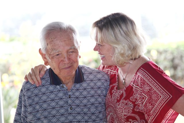 A client of Ho`onani Day Center with Karyn . PHOTO: Ho`onani Adult Services, Inc.