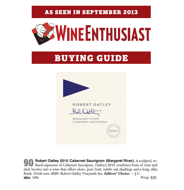 Wine Enthusiast ROSS Cab 90pts Editor's Choice