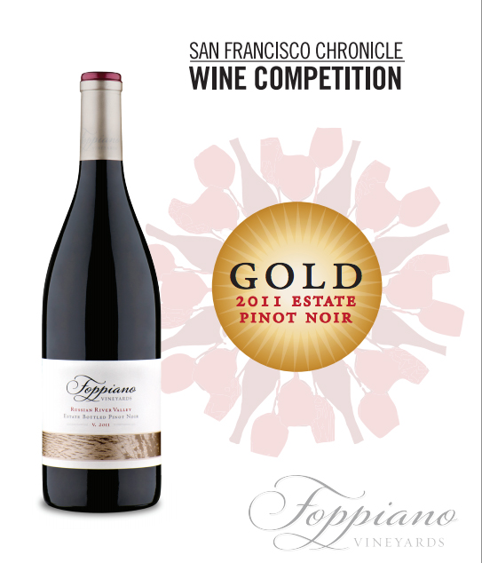San Francisco Chronicle Wine Competition Foppiano 2011 Pinot Noir gold medal
