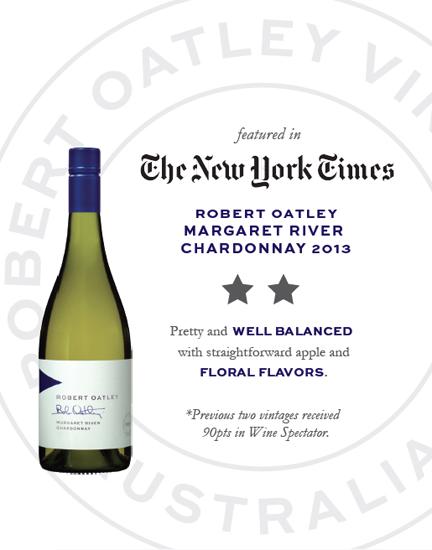 New York Times Robert Oatley Margaret River Chardonnay 2013