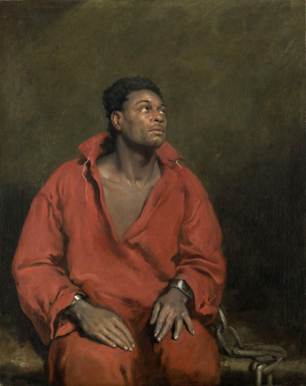 For me, a moving and powerful painting exhibiting skill and technique.     The Captive Slave   by John Philip Simpson