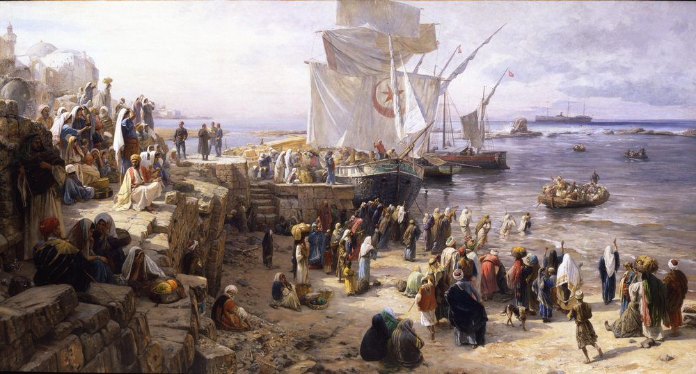 Gustav Bauernfeind - Jaffa, Recruiting of Turkish Soldiers in Palestine