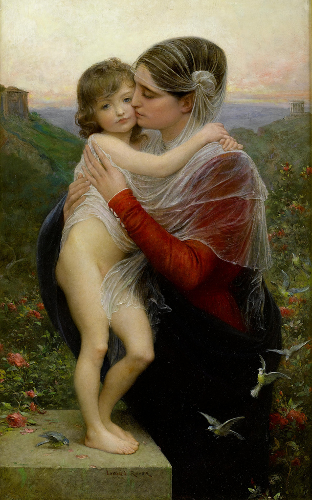 Lionel Royer - Madonna and Child