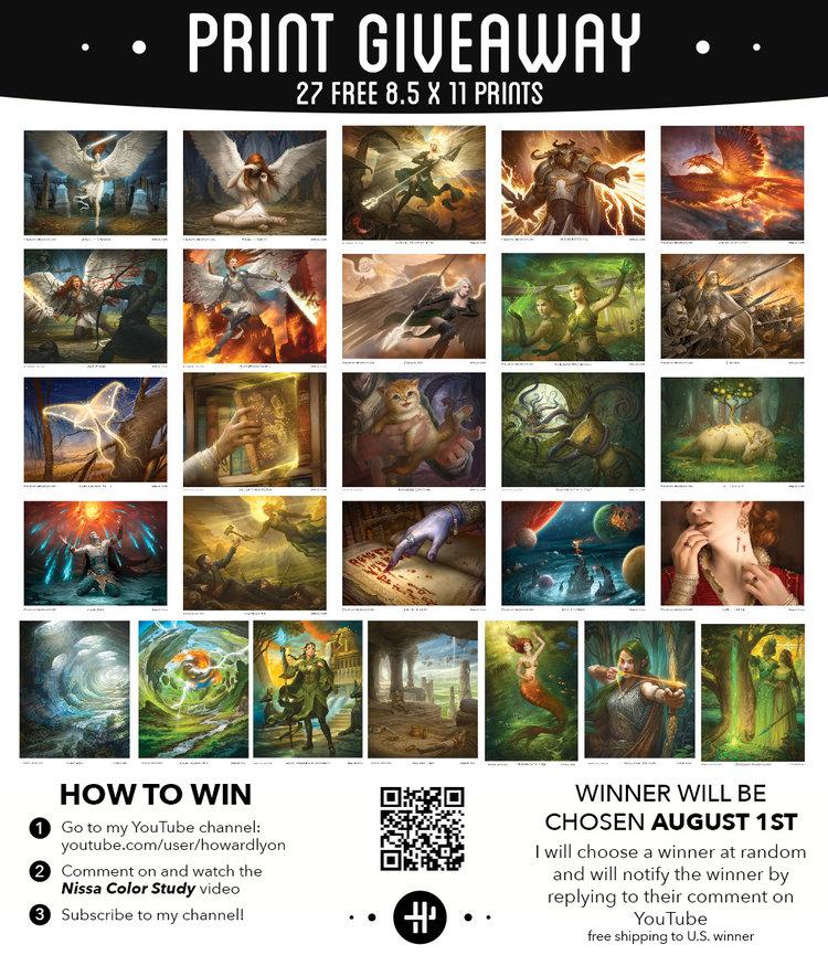 free print giveaway howard lyon fine art and illustration