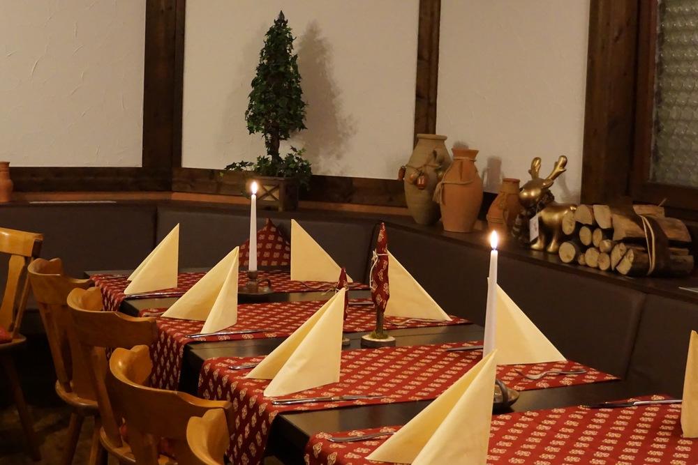 Der umgebaute Saal mit neuem Ambiente lädt auch für größere Festlichkeiten ein.