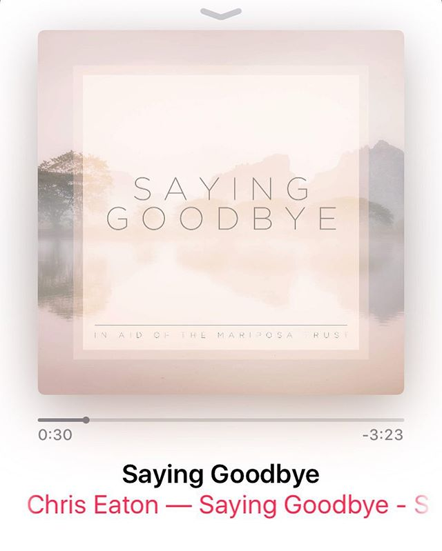 A beautiful song written and performed to perfection by a good friend of mine. 100% of the song sales go to The Mariposa Trust, an amazing charity who support those who have lost a child, through miscarriage or at birth or infancy. #sayinggoodbye