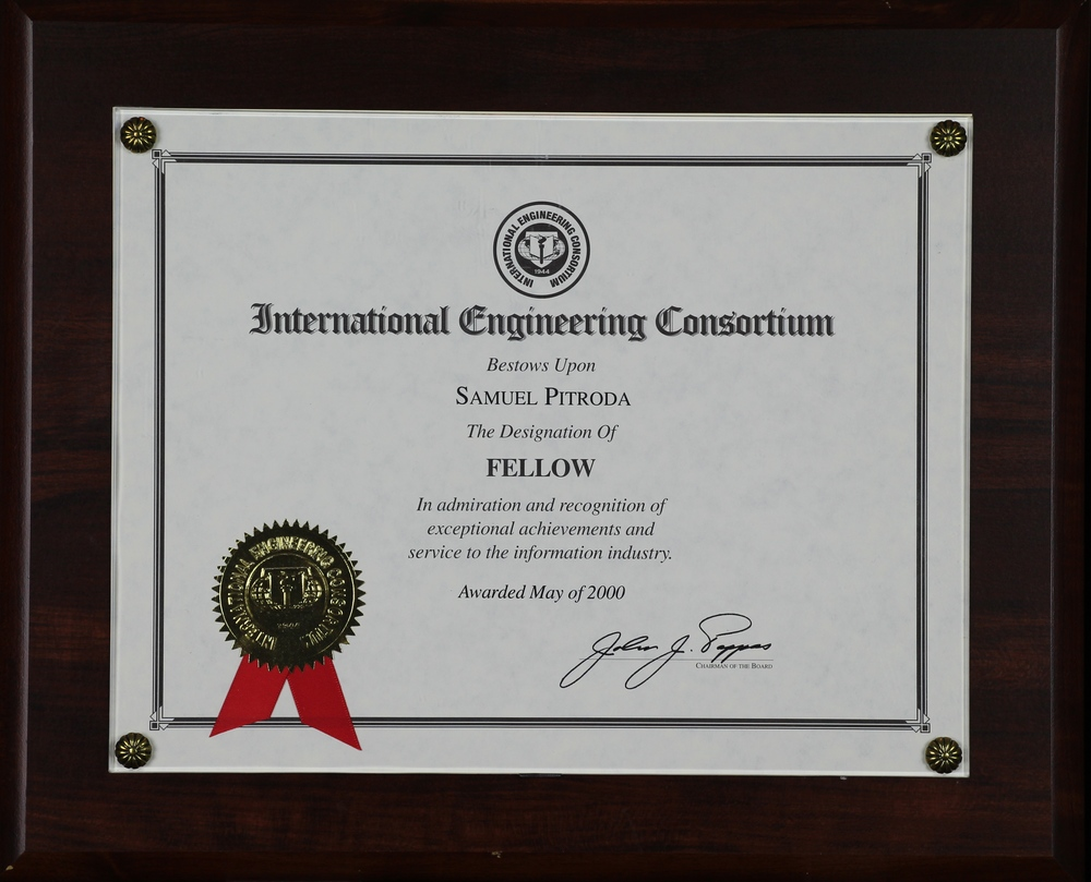 Fellowship Award, International Engineering Consortium, 2000