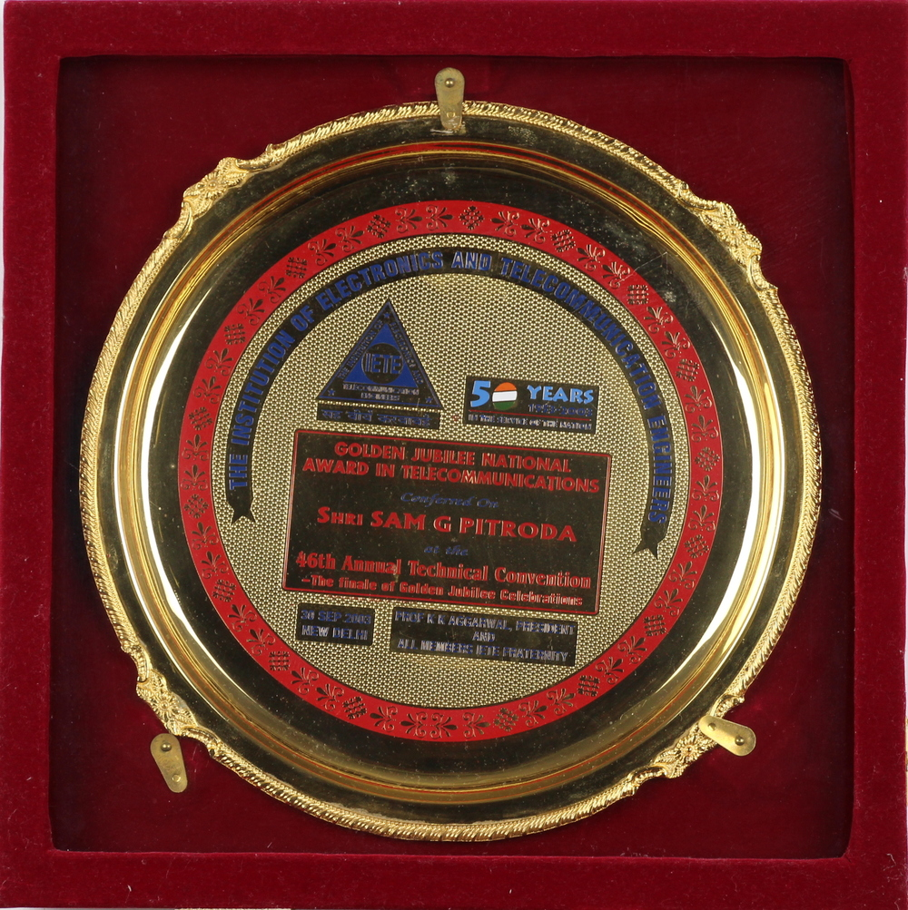 Golden National Jubilee Award in Telecommunication, The Institution of Electronics and Telecommunications Engineers, 2003