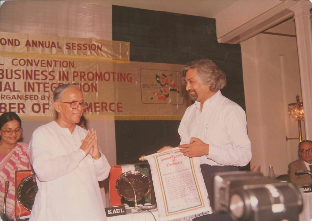 Sam with Jyoti Basu