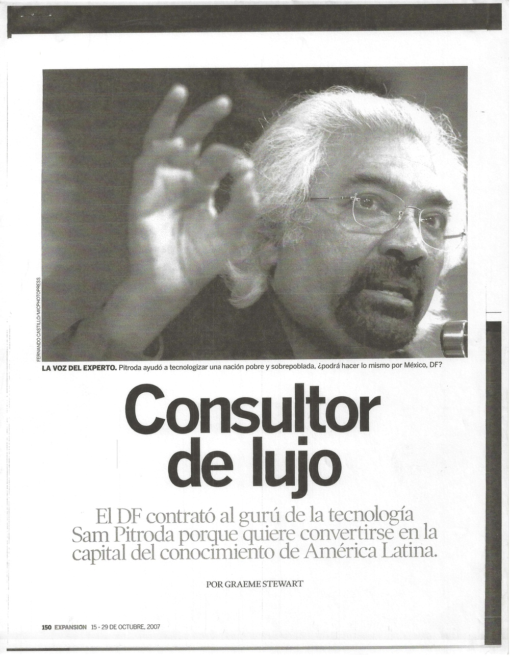 """Luxury Consultant,"" Expansion Magazine, 2007"