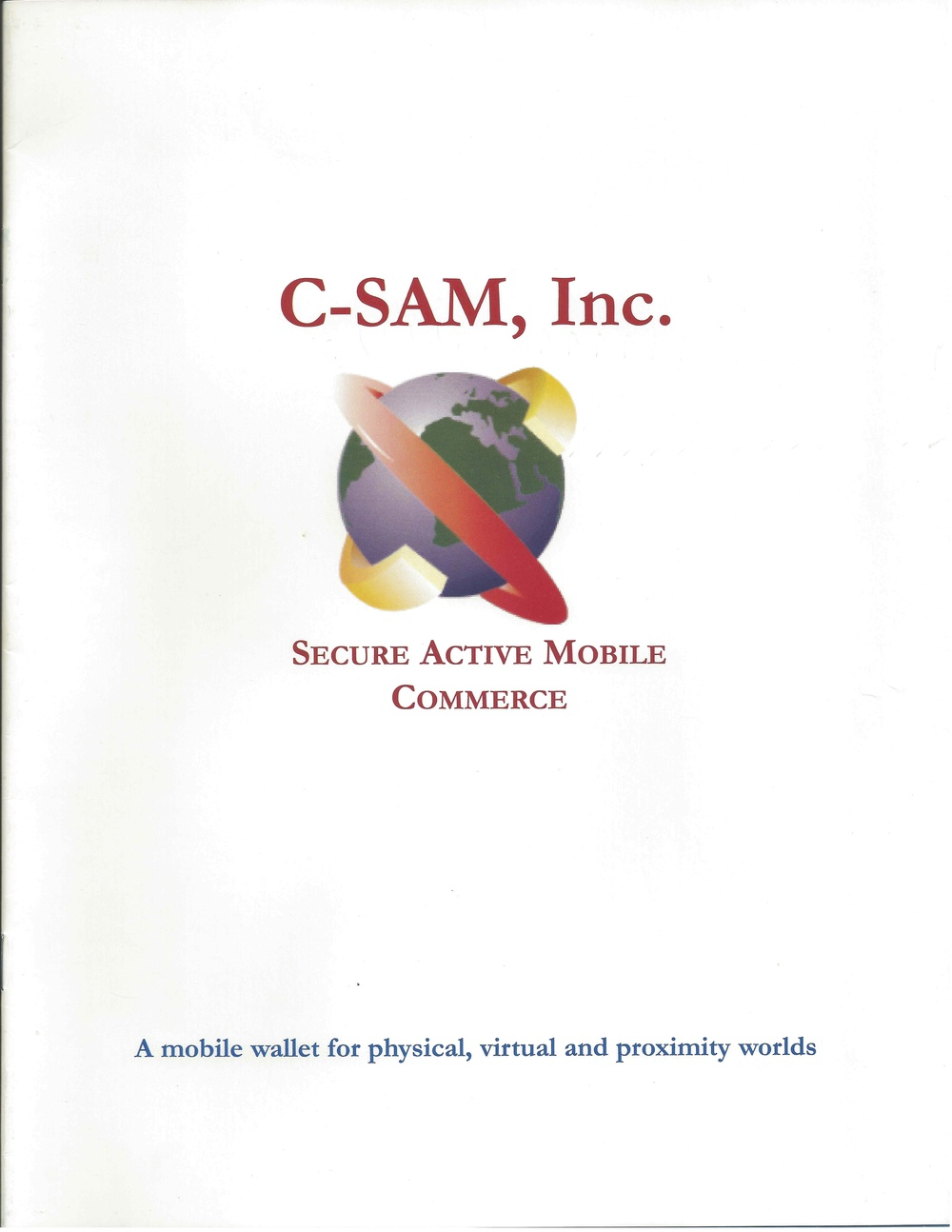 Click here to see an early C-SAM brochure