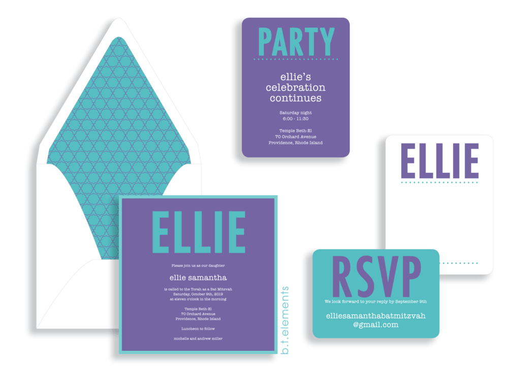 bat mitzvah invitations b t elements