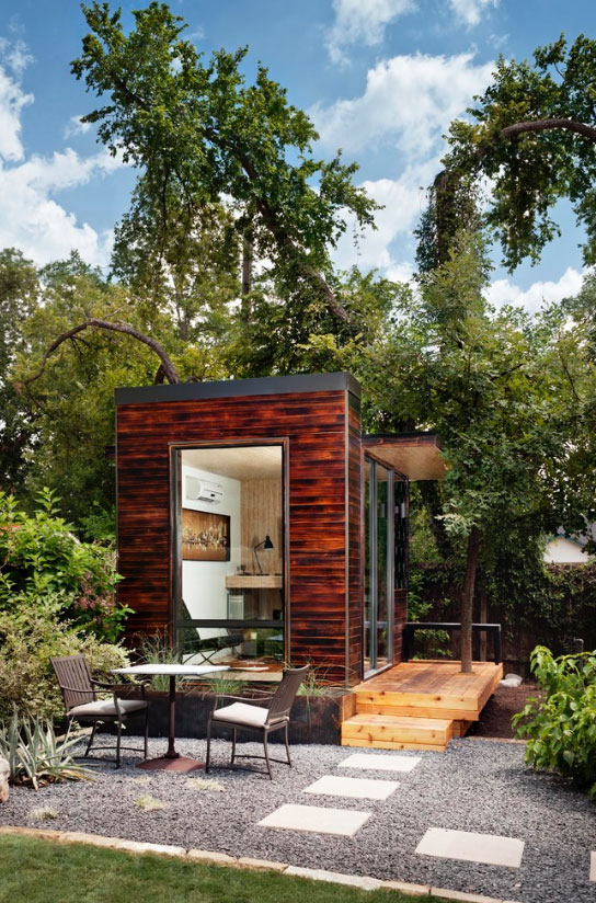 Escape to the backyard office the backyard room for Outdoor home office buildings