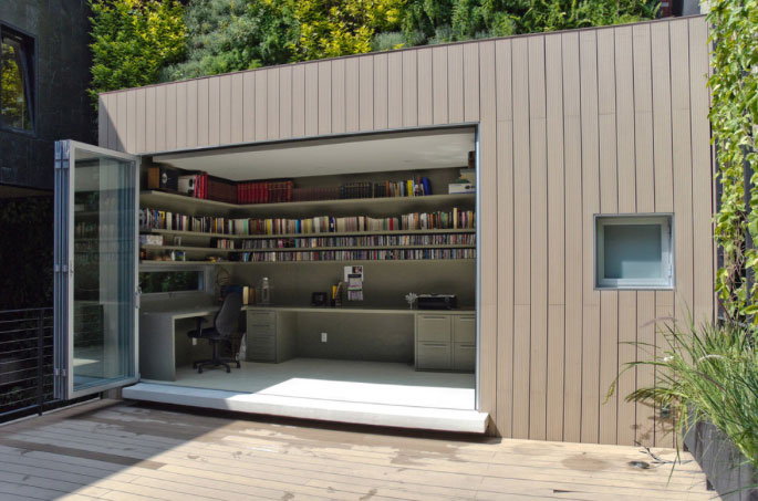 Escape to the backyard office the backyard room for Building a home office in backyard