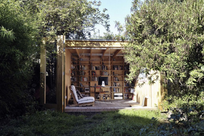 SHED your OFFICE with this great backyard design by Office Sian Architecture and Design as seen on www.Houzz.com/outdoor-office