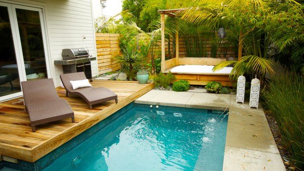 8 steps to the perfect backyard getaway the backyard room for Garden oases pool