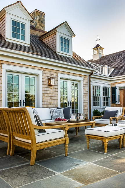 Outdoor décor really sets a tone for your backyard all year long so it is important to take the time to tidy up and revamp if necessary.  Image as seen on HGTV.com