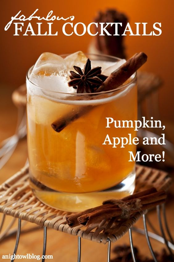 For more fall cocktail recipe ideas check out A Night Owl Blog