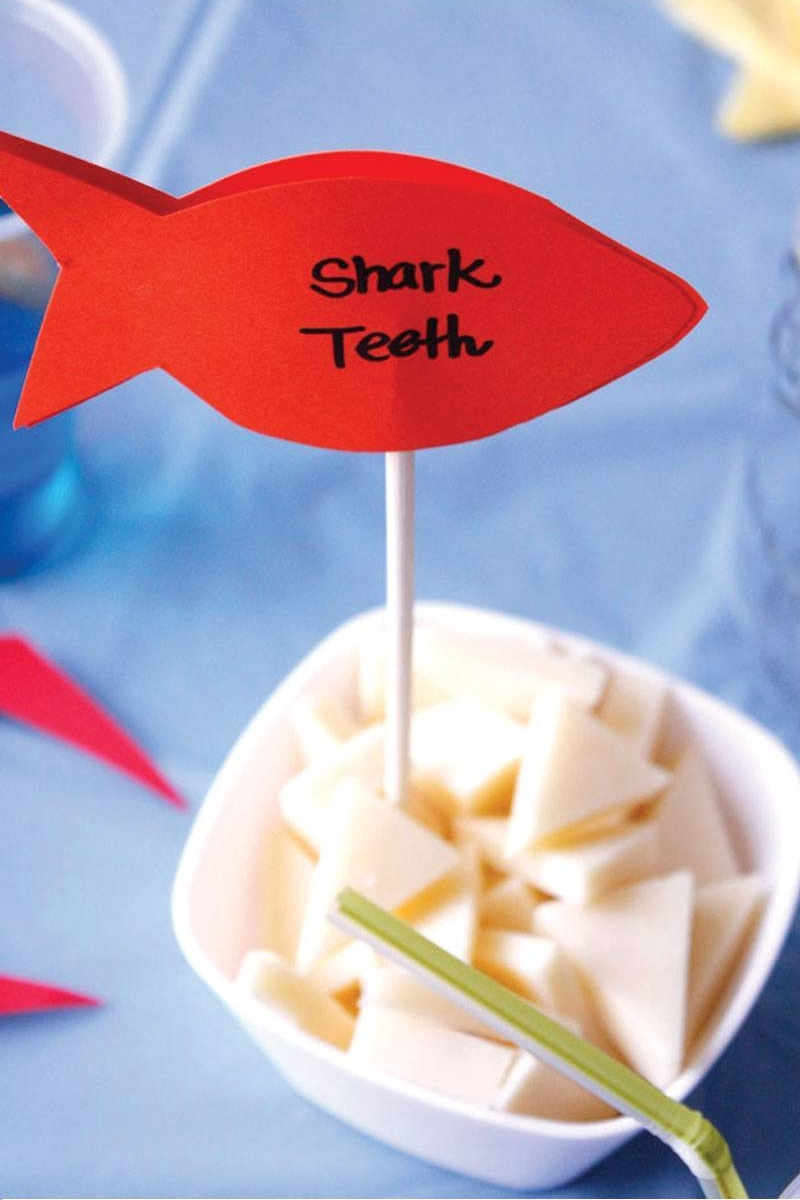 Bite Size - Shark teeth cheese appetizer!