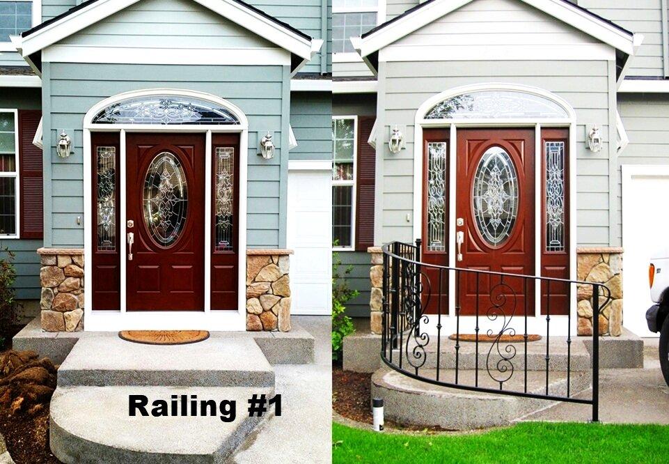 curved ornamental railing with return