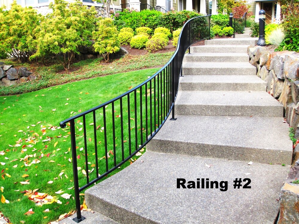 long curved railing with tubular molded cap
