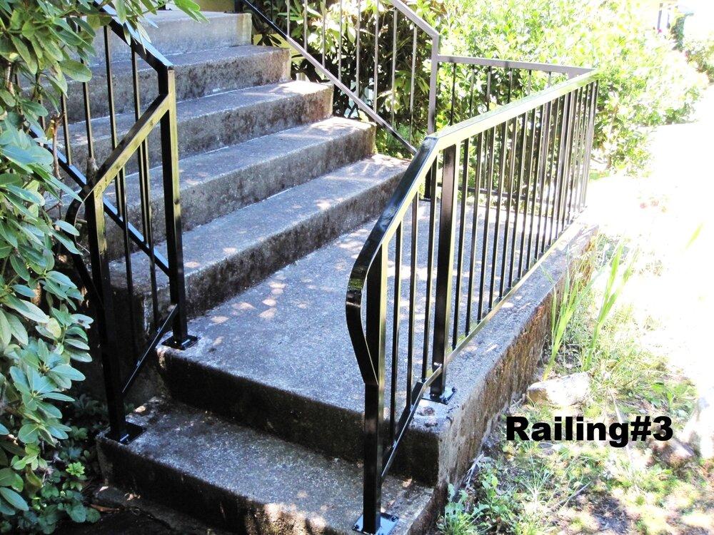 plain design railing with returns