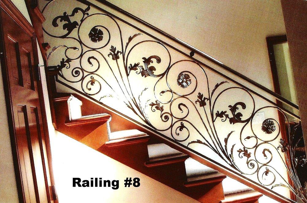 flower bunch design railing