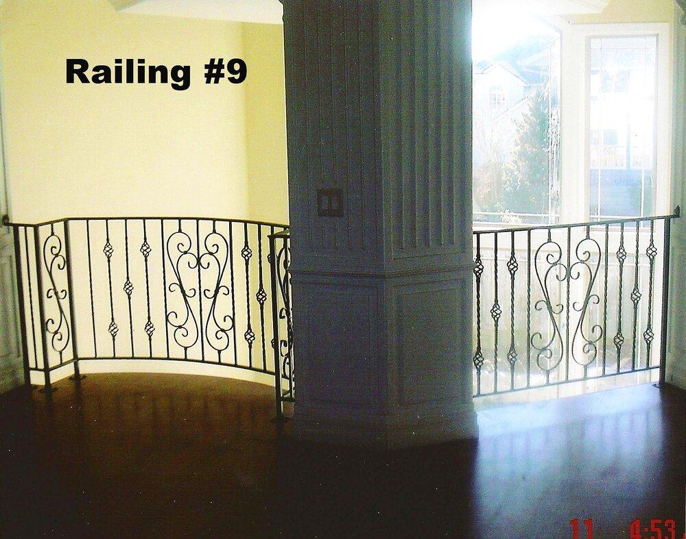 basket baluster and scroll design combo railing