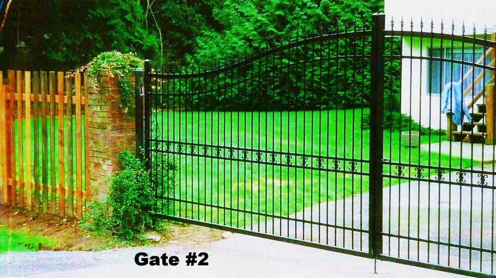 manual double swing steel gate