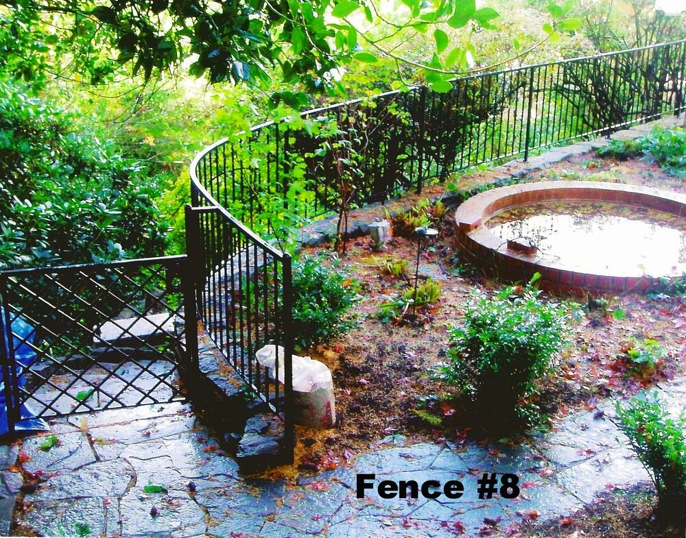simple curved fence