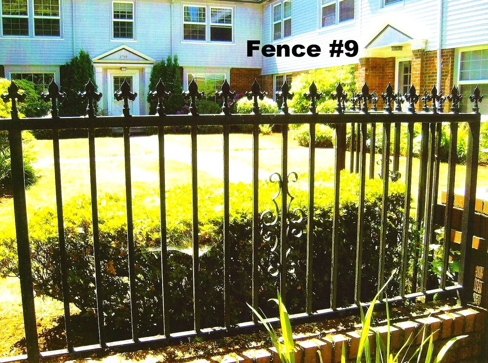 medium height fence with spear