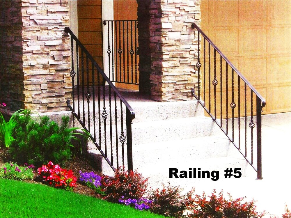 railing with balusters and molded cap rail