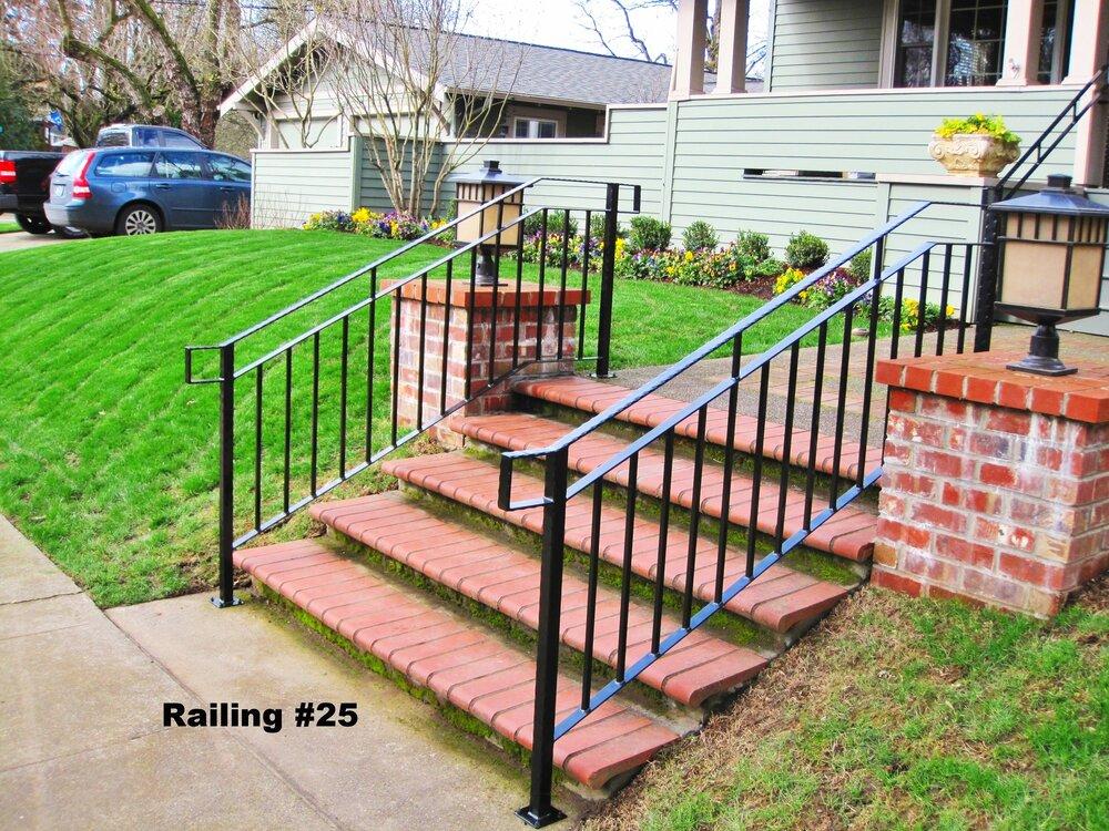 thin flat bar railing
