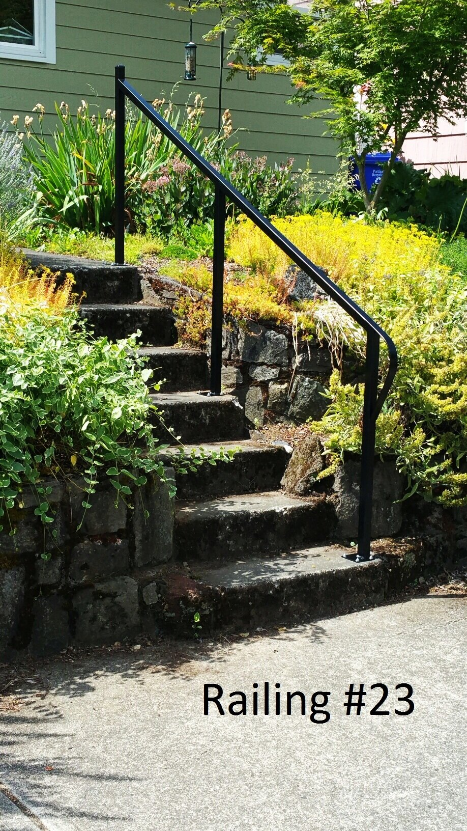 simple handrail with return