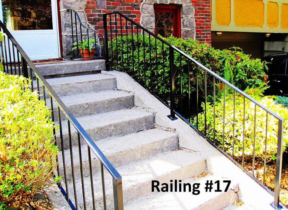 flat top crossing bar railing