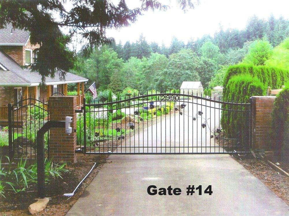 Steel gate fence railing contractor portland oregon