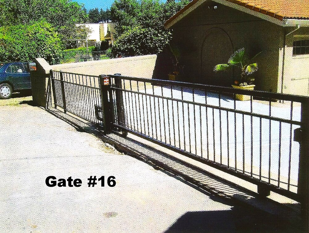 modern design of residential sliding gate design equipped with gate opener