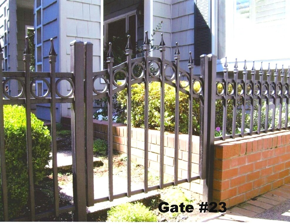 short man gate for front entry of yard or garden