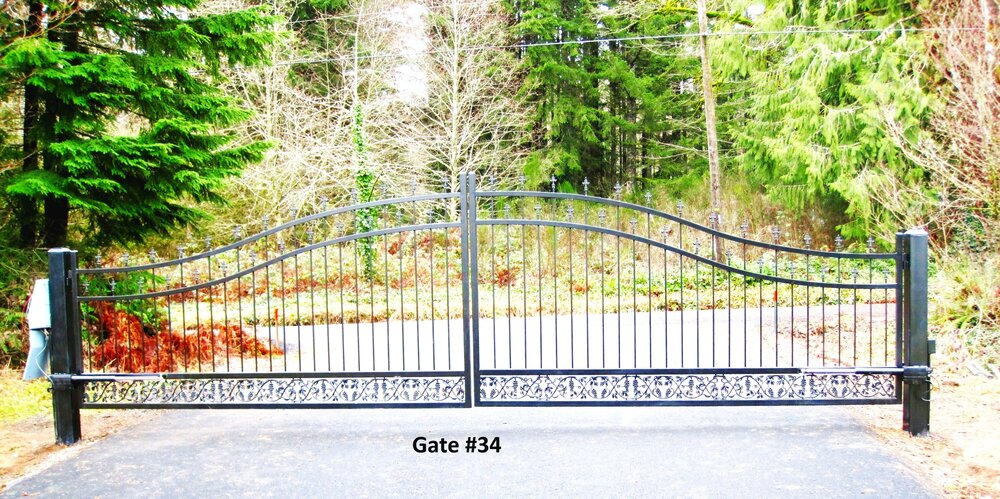 very wide dual swing gate with automation