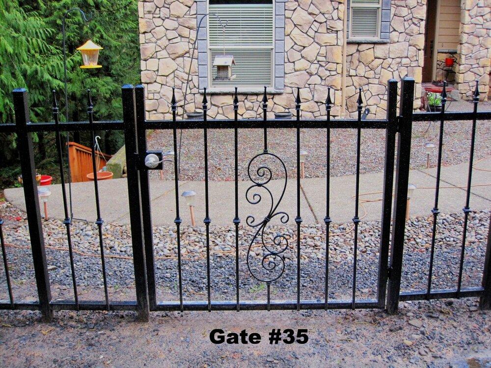 small pedestrian gate with door lever