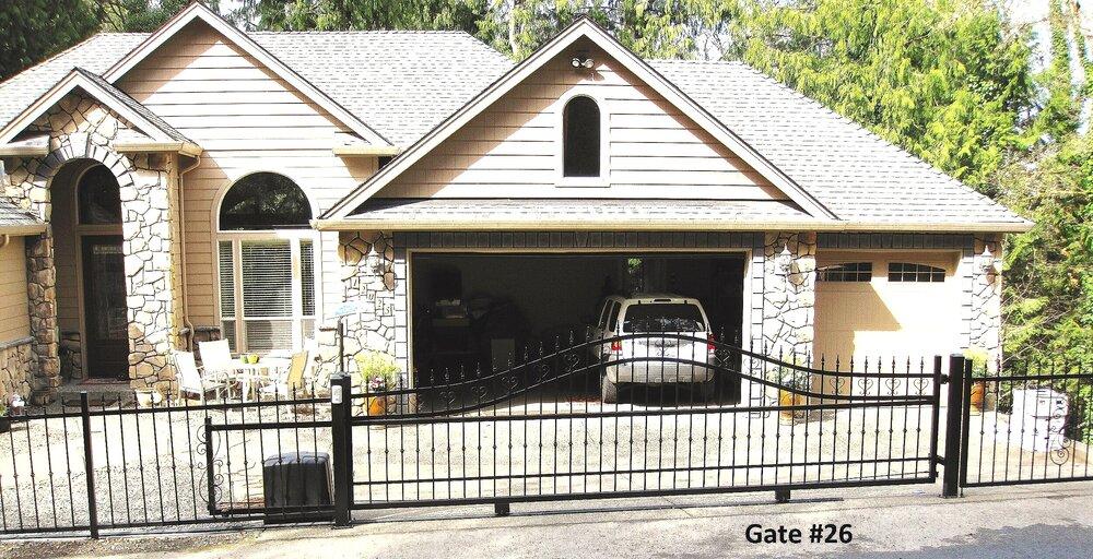 solar powered sliding driveway gate