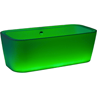 ACCESS Big 35 D-Lighting   Bathtub 180x85 cm (rectangular) Translucent Plasticryl + LED