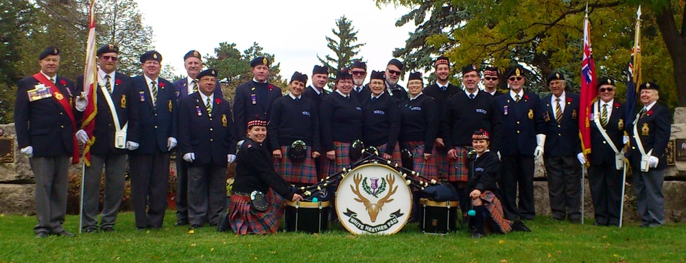 White Heather Pipes and Drums - Beechwood Cemetery October 26, 2014