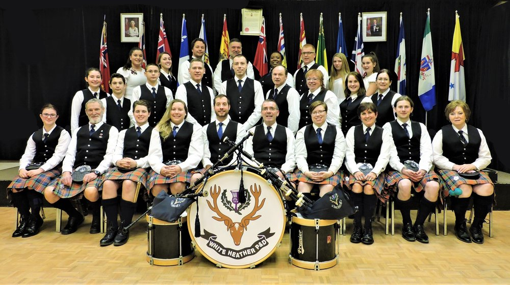 White Heather Pipes and Drums 2017